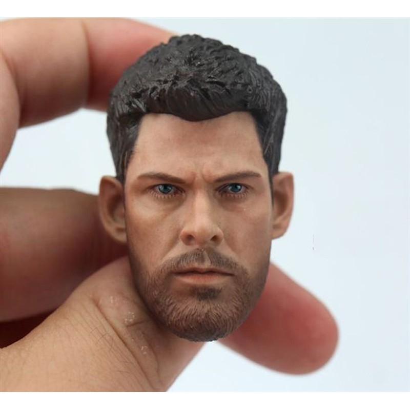 1//6 scale Head Carving Male Head Model Thor Raytheon Head Sculpt F 12'' Figure