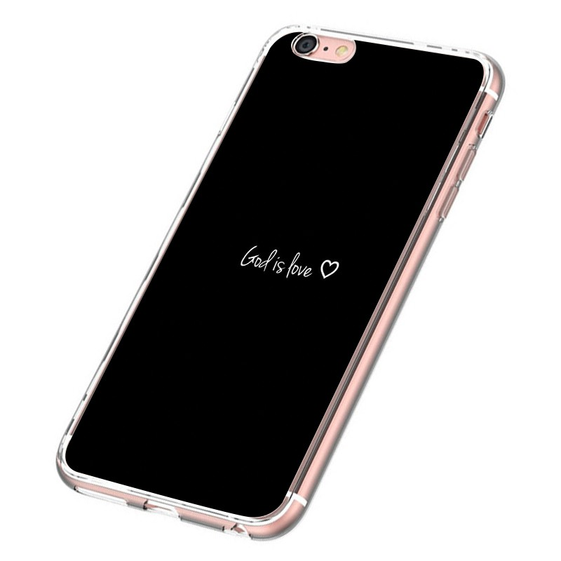 God is Love 2D Full TPU Clear Case iPhone 6s 6+ 7 7+