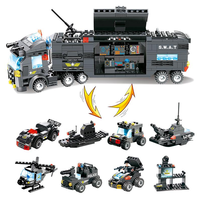 Lego City Police Series 8 In 1 City Police Building Blocks ...