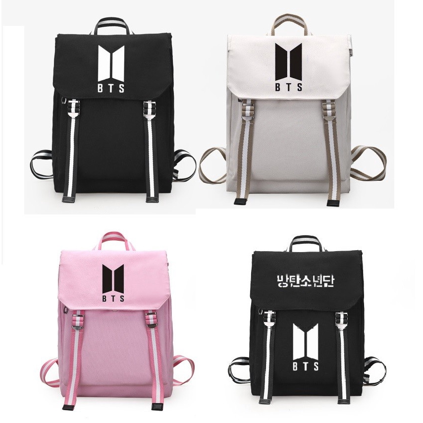 5de80ed6f0359 KPOP BTS Bangtan Boys Backpack School Bag Unisex Bag