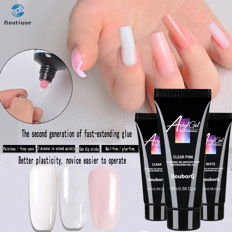 Poly Gel Finger Nail Extension UV LED Jelly Hard Nail Gel