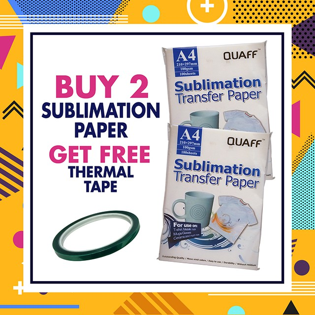 PROMO SUBLIMATION PAPER A4 FREE THERMAL TAPE