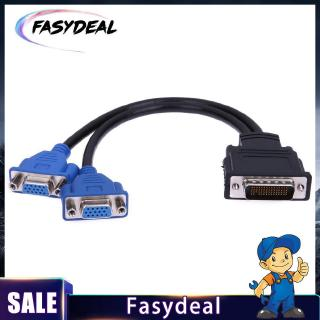 2 Pack Tekit DMS-59 Pin Male to 2 Dual VGA Female Y Splitter Video Card Adapter Cable