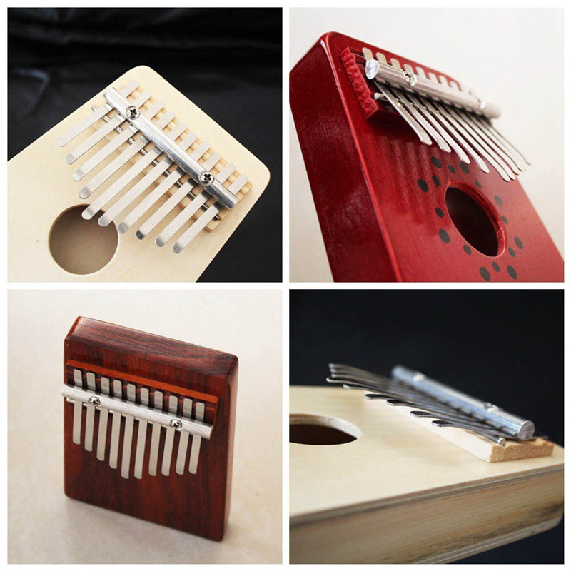 Home Logical 10 Key Finger Mbira Kalimba Thumb Piano Mini Pine Wood Percussion Instrument Musical Instrument