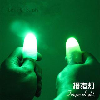 2pc LED Magic Light up thumbs fingers trick appearing light close Magic Thumb GA