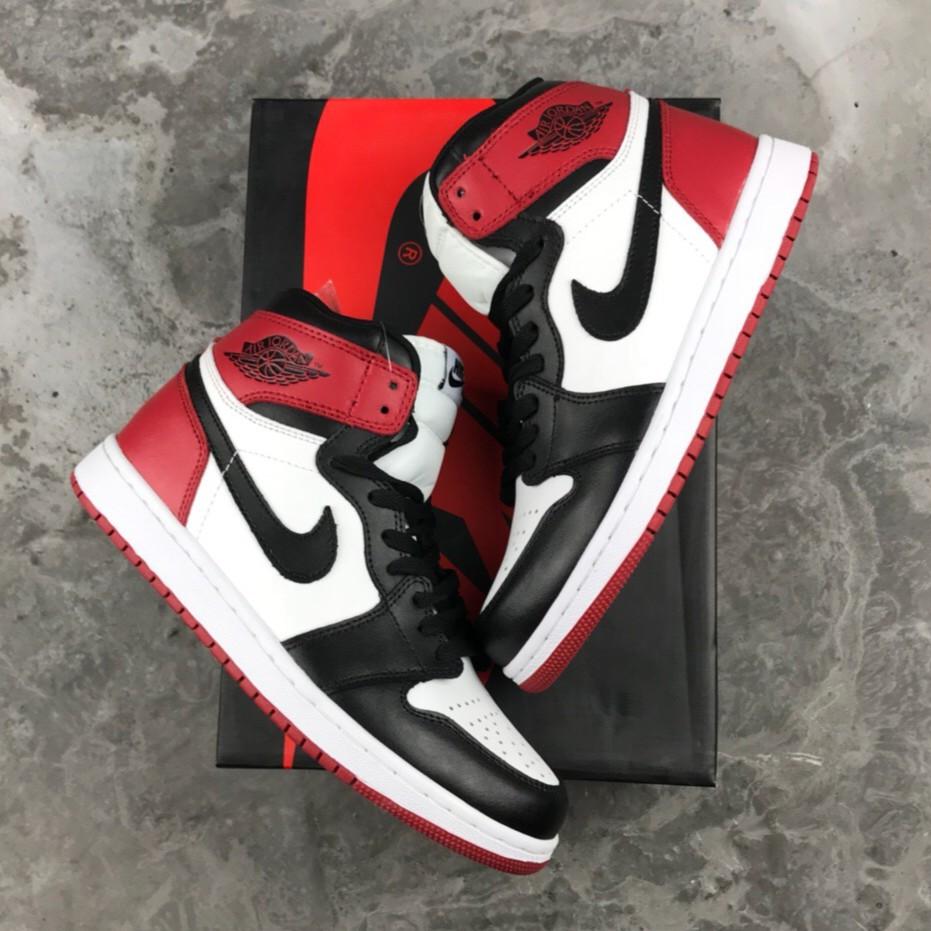 Nike AIR JORDAN 1 RETRO Basketball Shoes FOR MEN WhiteRed Inspired