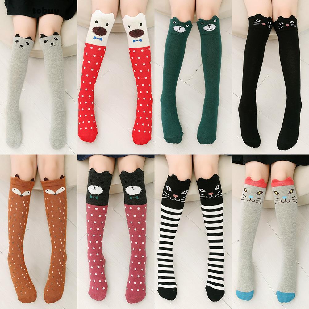 f77a6ef71 WanToBy Fashion Over Knee Thigh High Elastic Long Socks Girls Fashion  Cartoon Stockings