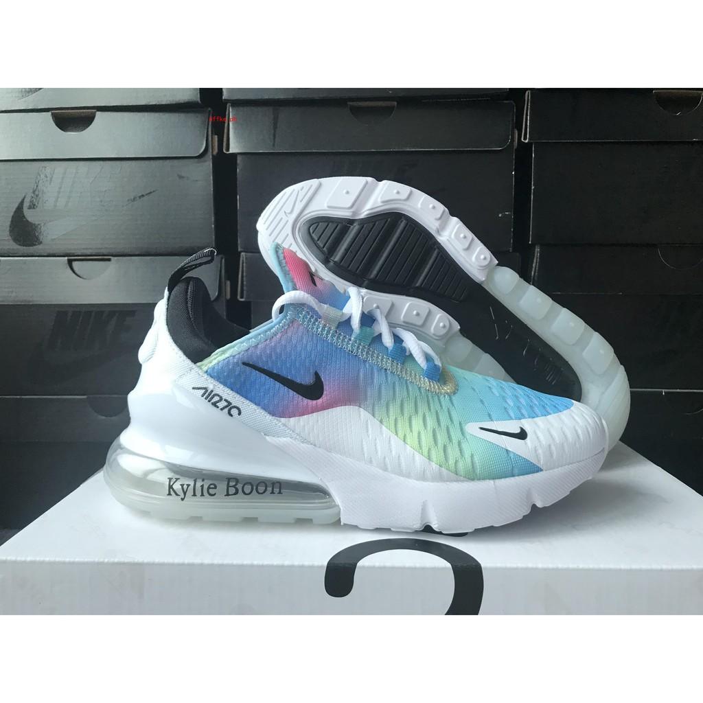 Nike Air Max 270 Rainbow Sneakers in 2020   Rainbow sneakers