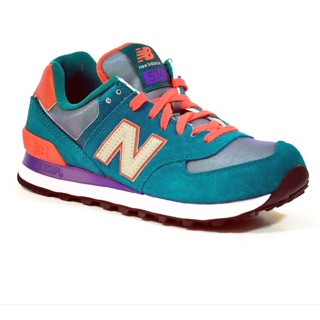 New Balance 574 Dark Green Orange