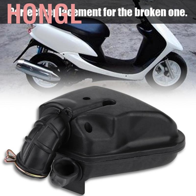 Motorcycle Black Rubber Air Filter Air Cleaner Intake Box Assembly For GY6 50cc Long Case engine Scooter Moped
