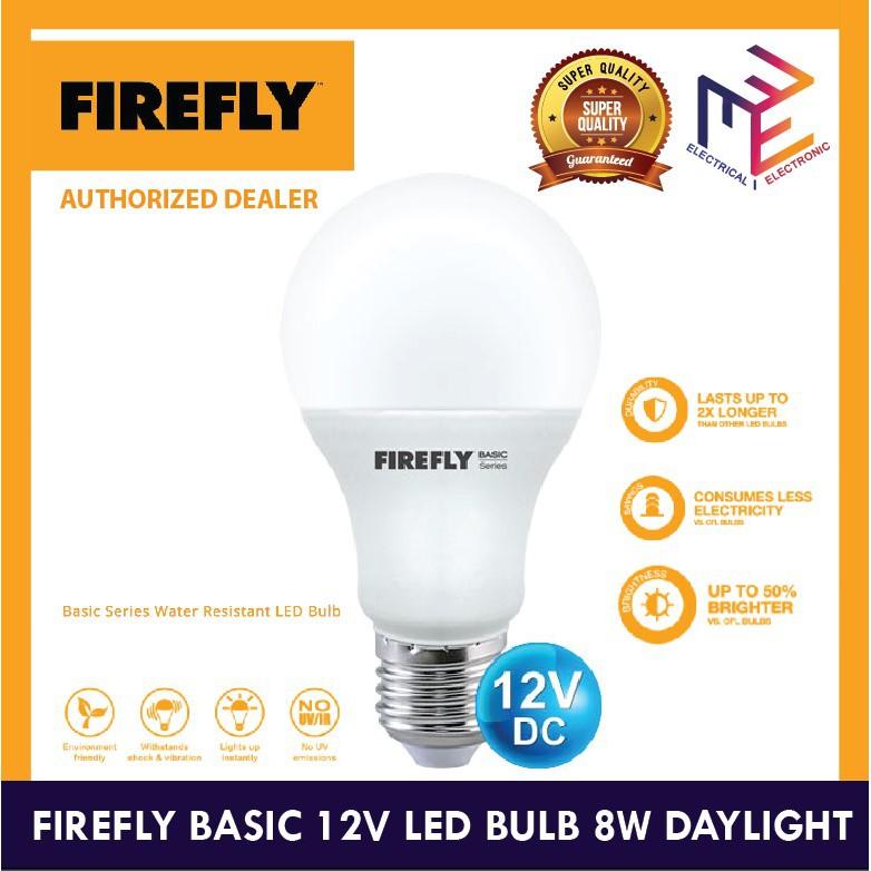 FIREFLY BASIC 12V LED BULB 8W DAYLIGHT 20000 LIfe Hours