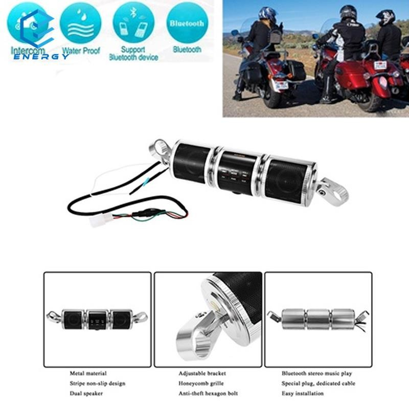 EGY MT487 Motorcycle Bluetooth Audio FM/AM Stereo Speakers