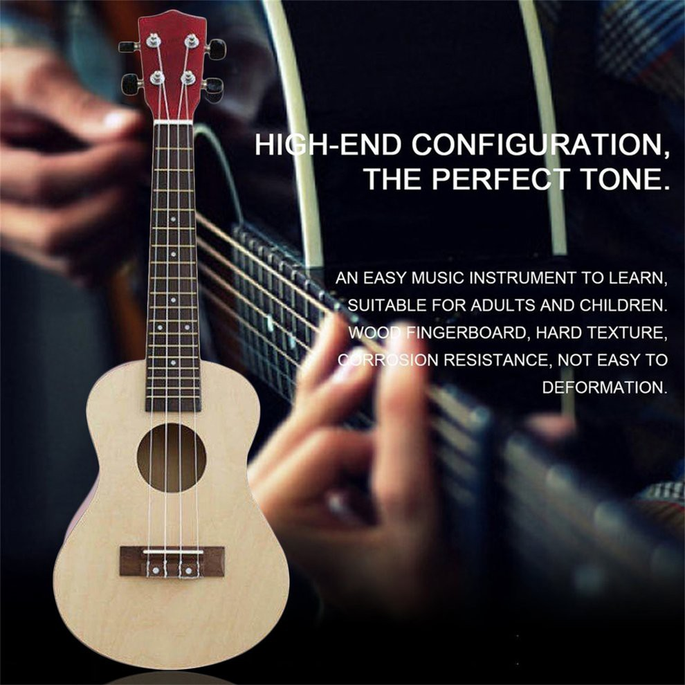 23 inch wooden 6 strings acoustic mini guitar | shopee philippines