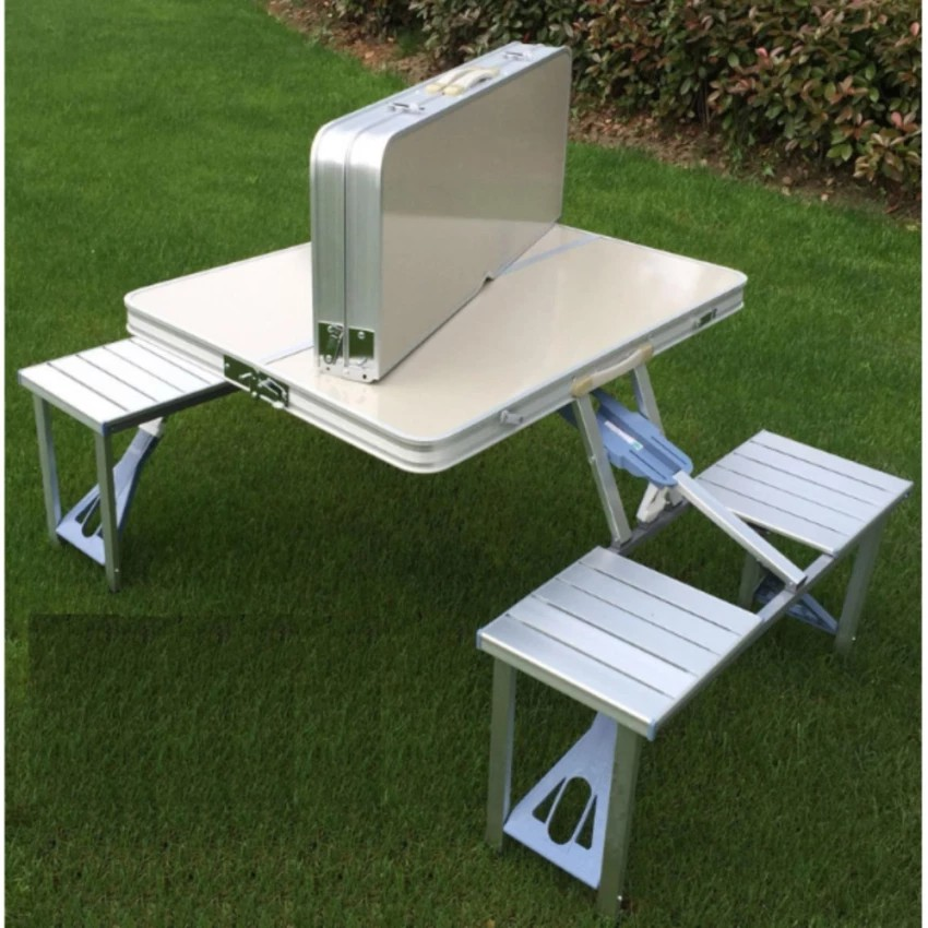 Awe Inspiring Foldable Picnic Tables Folding Aluminium Outdoor Tables Download Free Architecture Designs Scobabritishbridgeorg