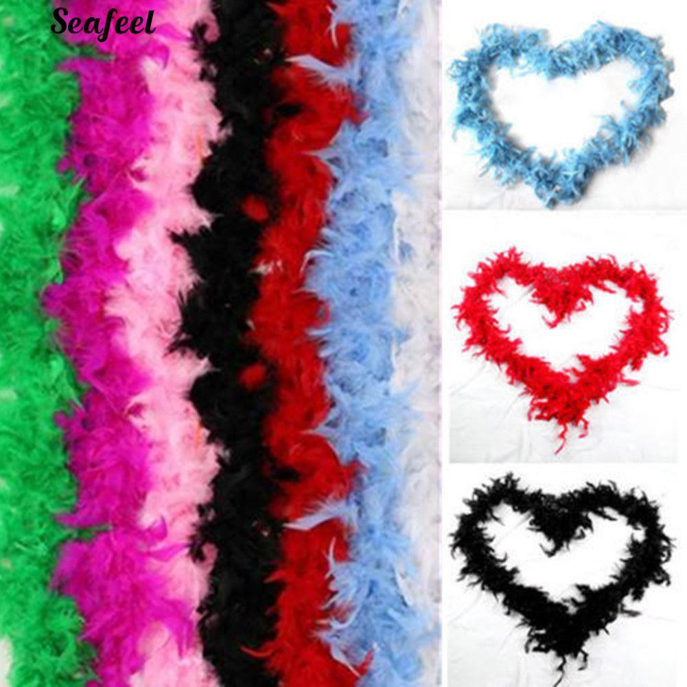 DIY Feather Boa Strip Fluffy Colorful Craft Scarf Costume Dressup Wedding PARTY