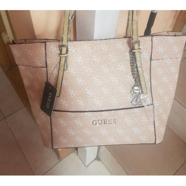 Guess Women s Confidential 4G Logo Box Satchel Bag (Cream)  5df8b66987c9e