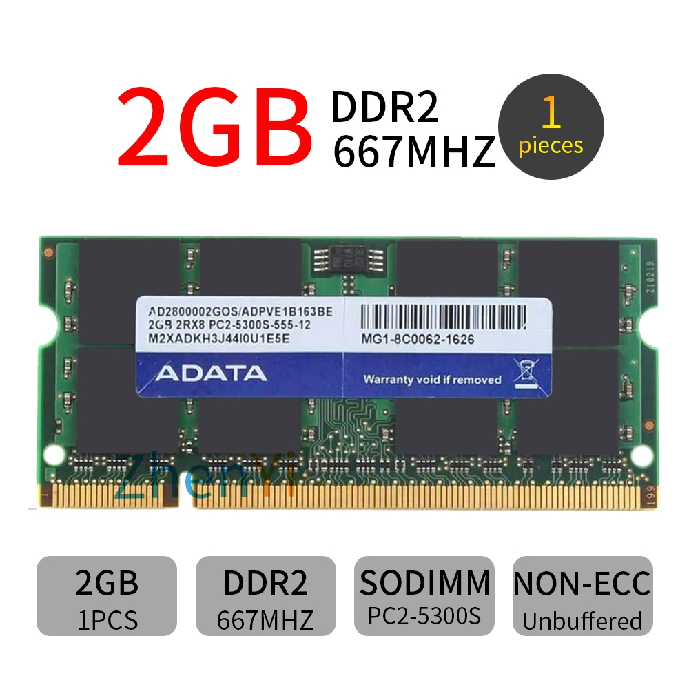 Crucial 2GB 2RX8 PC2-5300S DDR2 667MHz 200PIN SO-DIMM Laptop Memory Notebook RAM