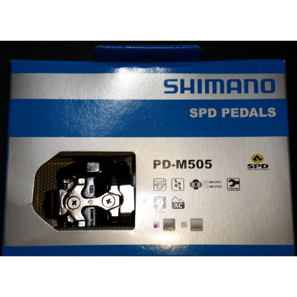 41568926782 SHIMANO M505 MTB Bike Pedals w/ SH51 Single Release Cleats | Shopee  Philippines