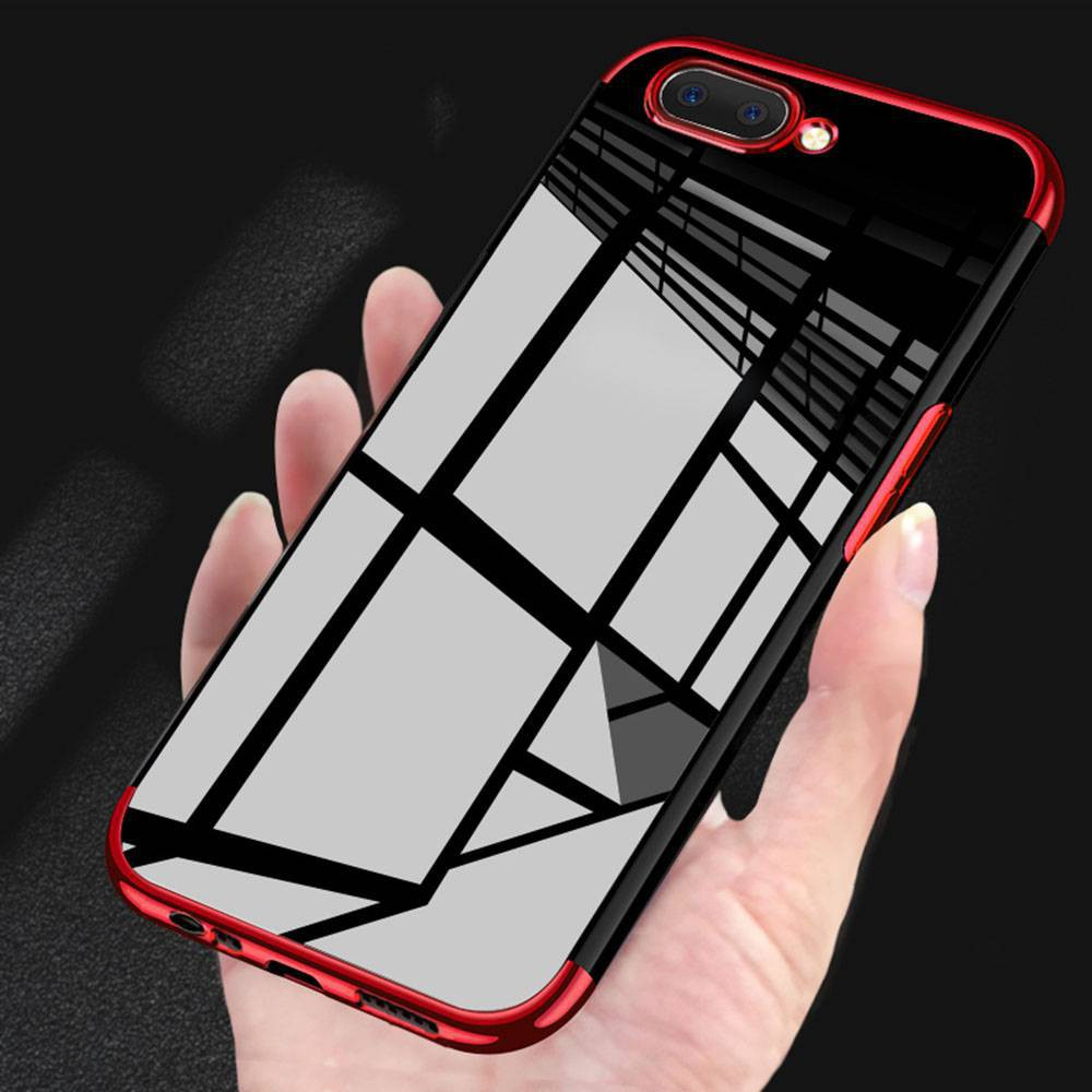 buy popular 14f21 b4eda OPPO A3s / A5 Plating Soft TPU Case Cover Clear Back Cover