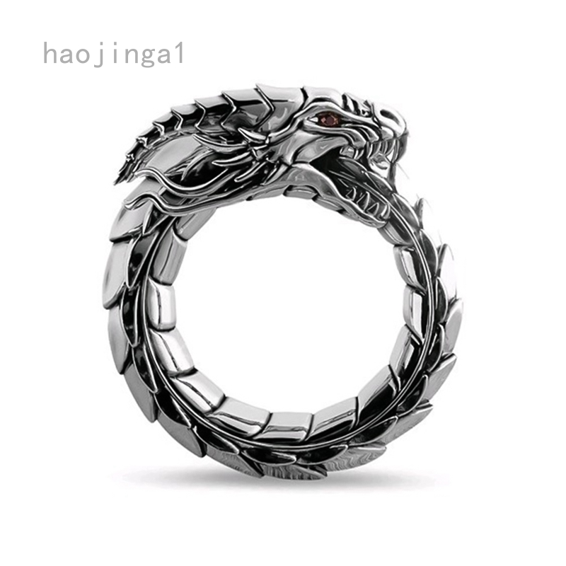 Men/'s Stainless Steel Gold Plated Dragon hip hop Ring Band Signet Jewelry Gift