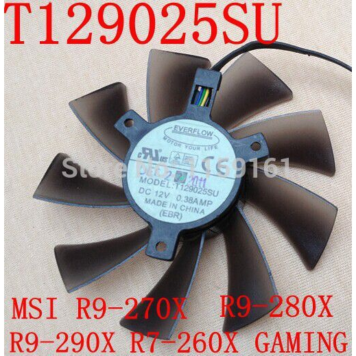 PLD10015B12H 12V 0.55A 95mm 4 Pin Replacement Cooling Fan for GTX680 GTX770 R9 280X R9-280X R9-270X R7-260X Graphics Card Fan