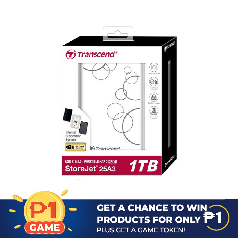 Chance to win Transcend Portable Hard Drive