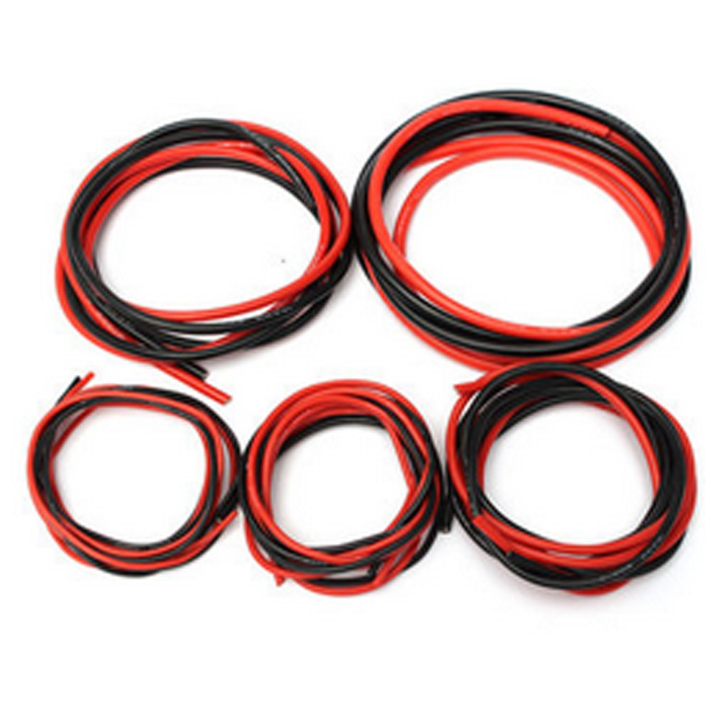 2M AWG Soft Silicone Flexible Wire Cable 1M Red/&1M Black 12-20 AWG Helpful Kit