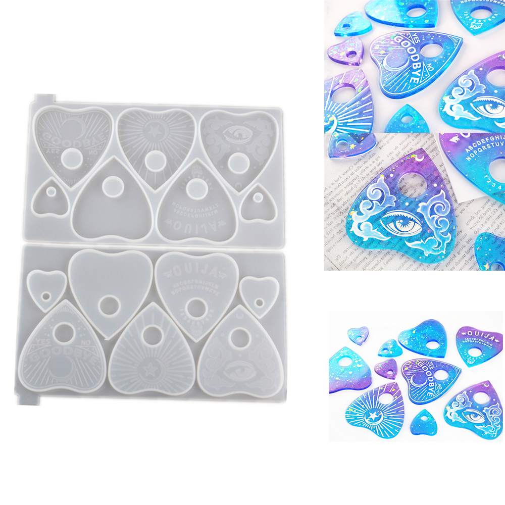 Planchette Divination Board Mold Jewelry Making Mould Ouija Board Resin Molds
