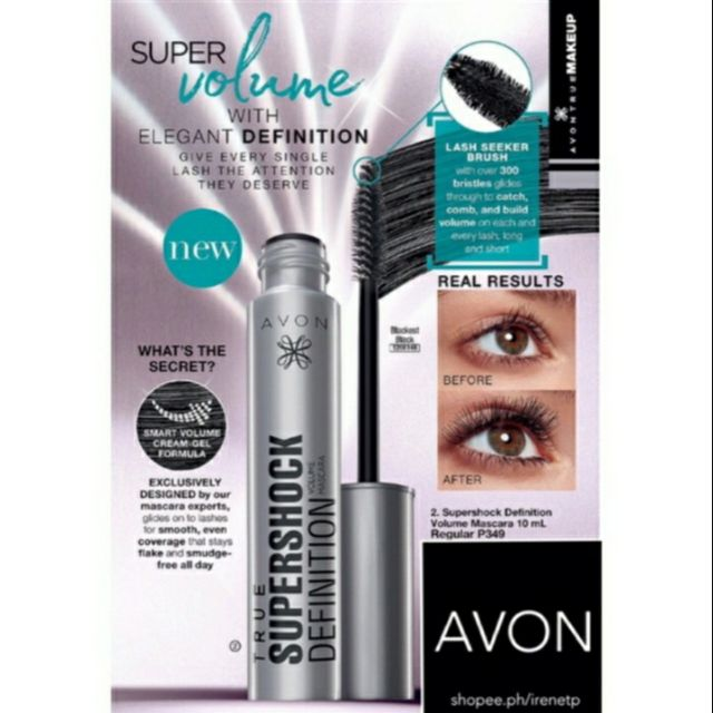 Avon TRUE COLOR supershock mascara (this items is promo until july 1-31 for  only P199 only)