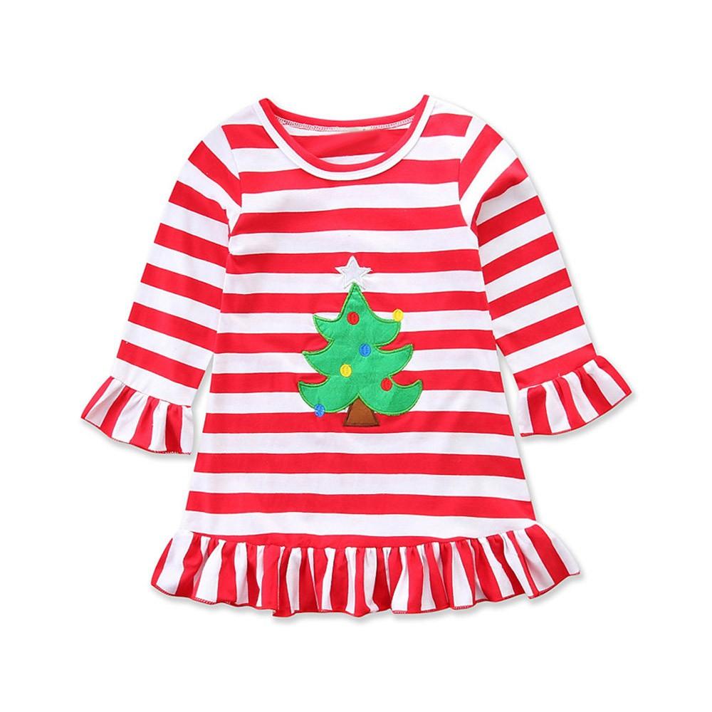Voberry Toddler Infant Baby Girls Christmas Santa Print Romper+ ...