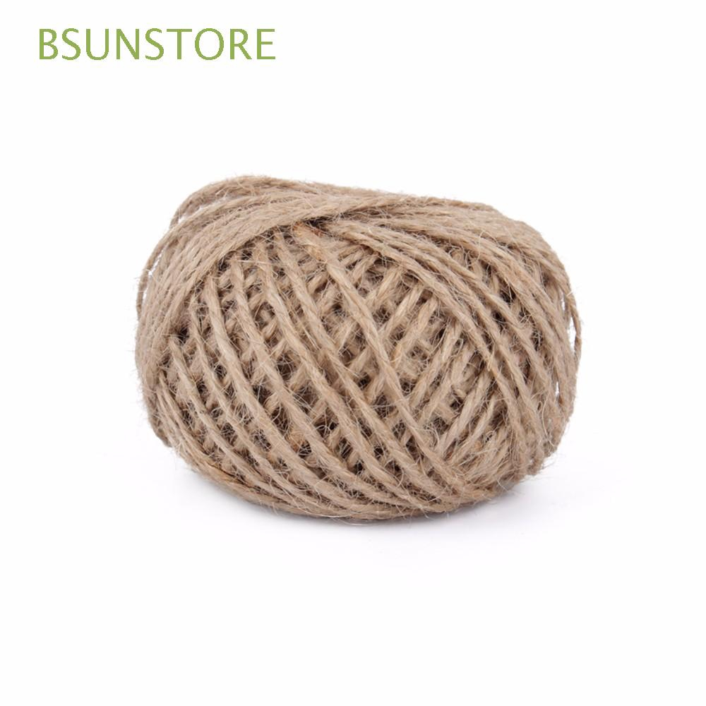e5011cc04215 30M String Cords Twine Natural Jute Rope Burlap Gift Packing