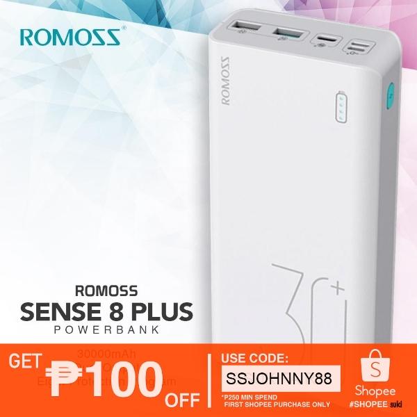 Original ROMOSS Sense 8 Plus 30000mAh QC3 0 Type-C PowerBank
