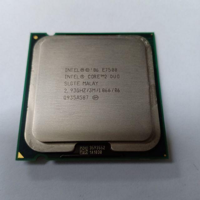 Intel® Core™2 Duo Processor 2 93Ghz E7500