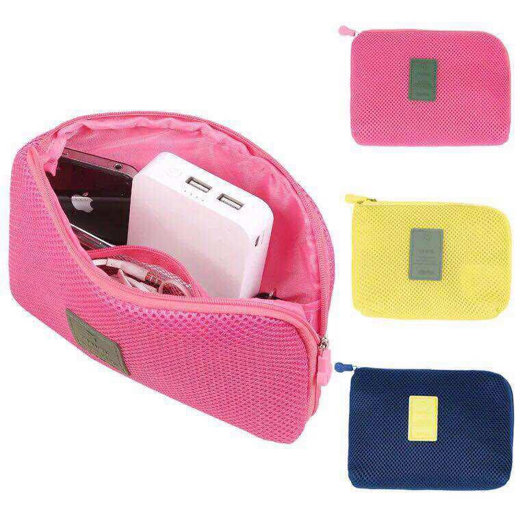 Travel Gadget Organizer Cable Cord Charger Pouch Shopee