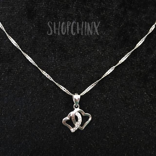 LIDU Women Elegant Waterdrop Rhinestone Pendant Necklace Hook Earrings Jewelry Set 8103564 | Shopee Philippines