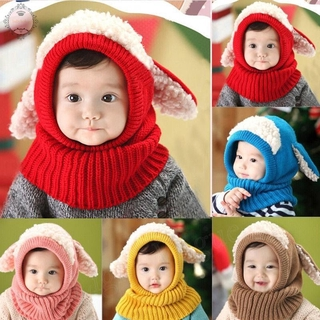 9d979698 Kids Cute Baby Toddler Winter Beanie Warm Hat Hooded Scarf Earflap Knitted  Cap | Shopee Philippines