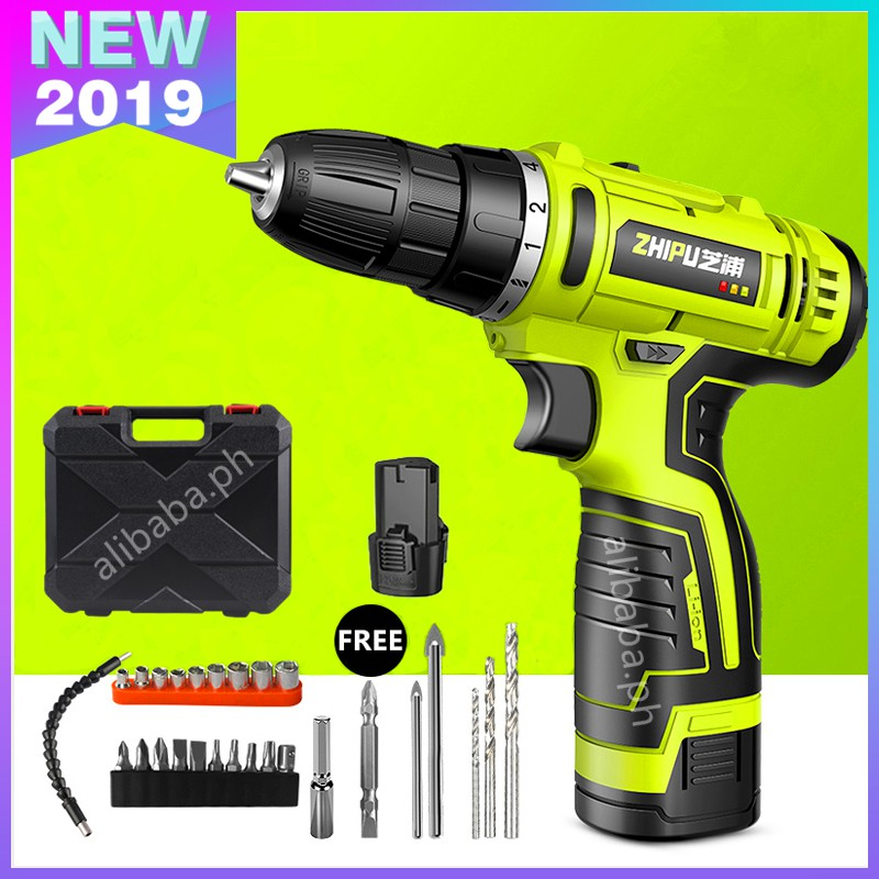 ZHIPU 12V Drill Power Tools (One Battery)