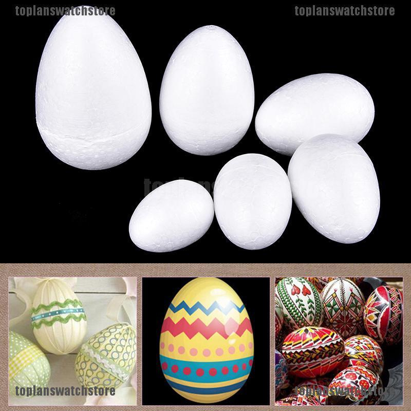 20pcs Modelling Styrofoam Painted Egg Foam Eggs Easter Decor Crafts Ornament