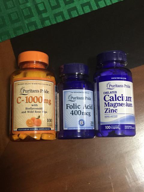 Folic Acid 400 mcg 250 tablets Puritan's Pride | Shopee