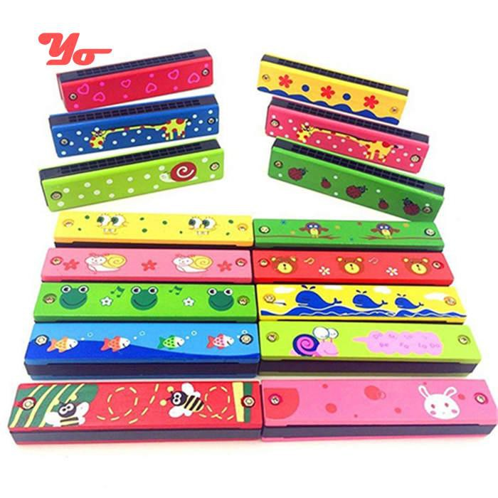 Toy Musical Instrument Learning & Education Wooden Harmonica Musical Instrument Educational Toy Kid Child Colorful Xmas Gift To Adopt Advanced Technology
