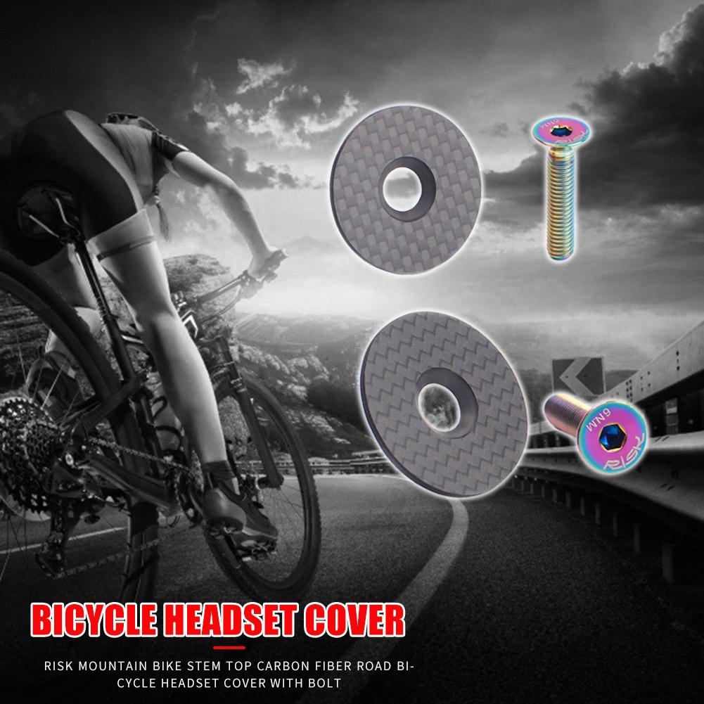 CARBON FIBER MTB BICYCLE BIKE CYCLING HANDLEBAR STEM HEADSET TOP CAP COVER SMART