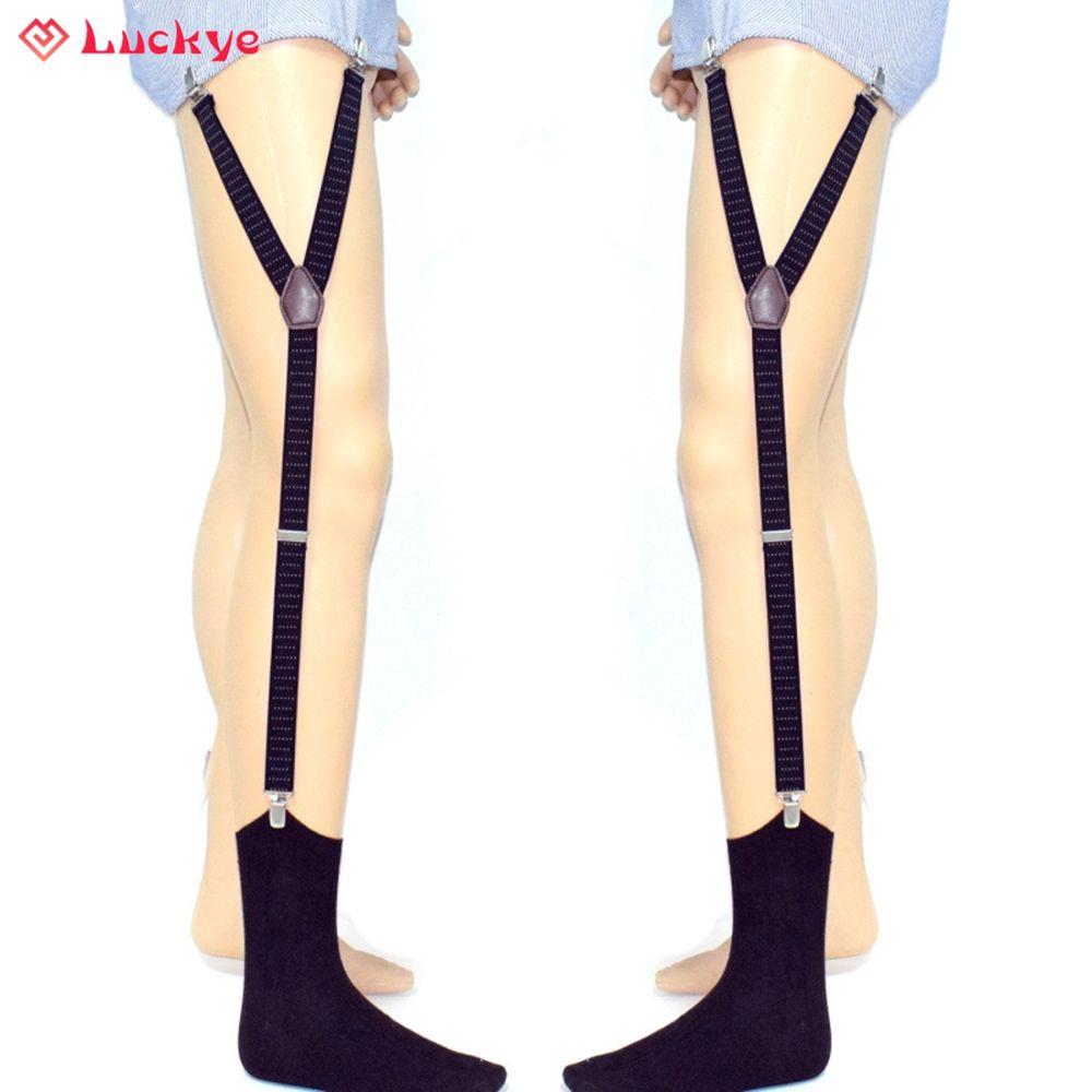 Men Lady T shirt Sock Suspender Stay Holder Elastic Garter Belt Non-slip Y Style