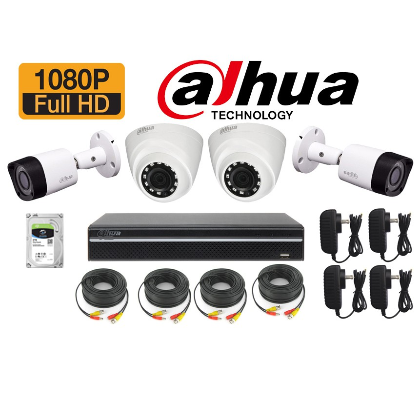 DAHUA CCTV 2MP 4CHANNEL 2TB HDD | Shopee Philippines