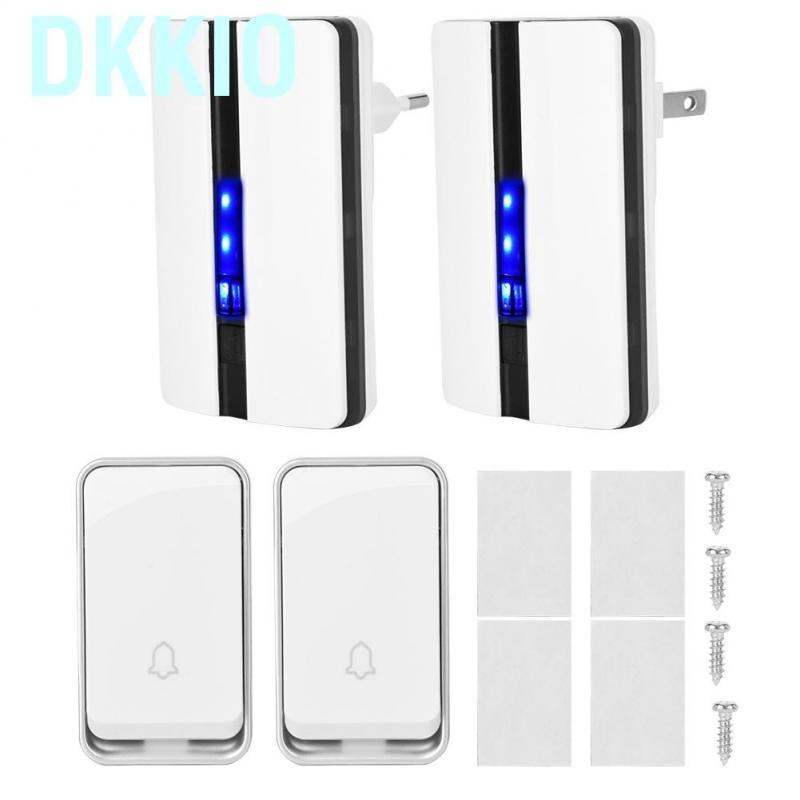 Waterproof Wireless Doorbell Digital 51 melodies Door Chime Audio Door Ring Bell