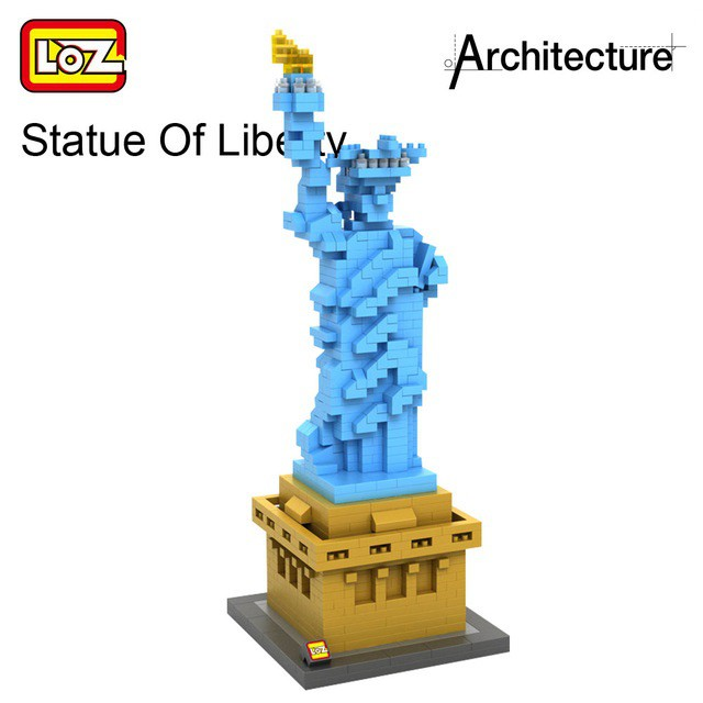BALODY Statue of Liberty Architecture DIY Diamond Mini Building Nano Blocks Toys