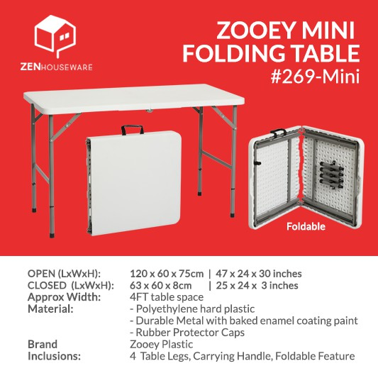 4 Feet Folding Table With 4 Extra Table Legs Shopee Philippines