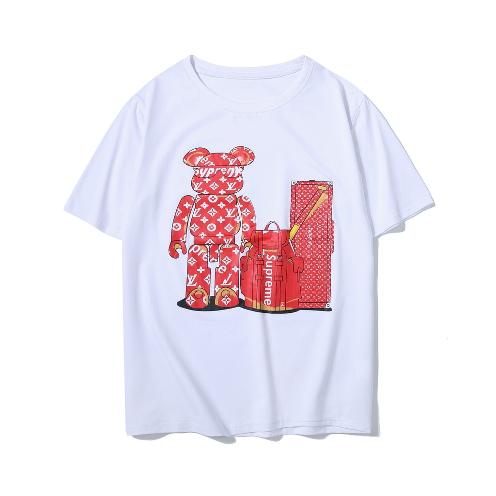 Supreme X LV Printed Short-sleeved Couple T-shirt   Shopee Philippines