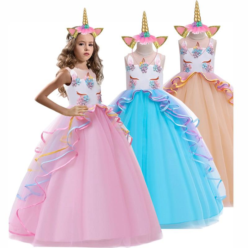 unicorn dress christmas kids dresses for girls costume