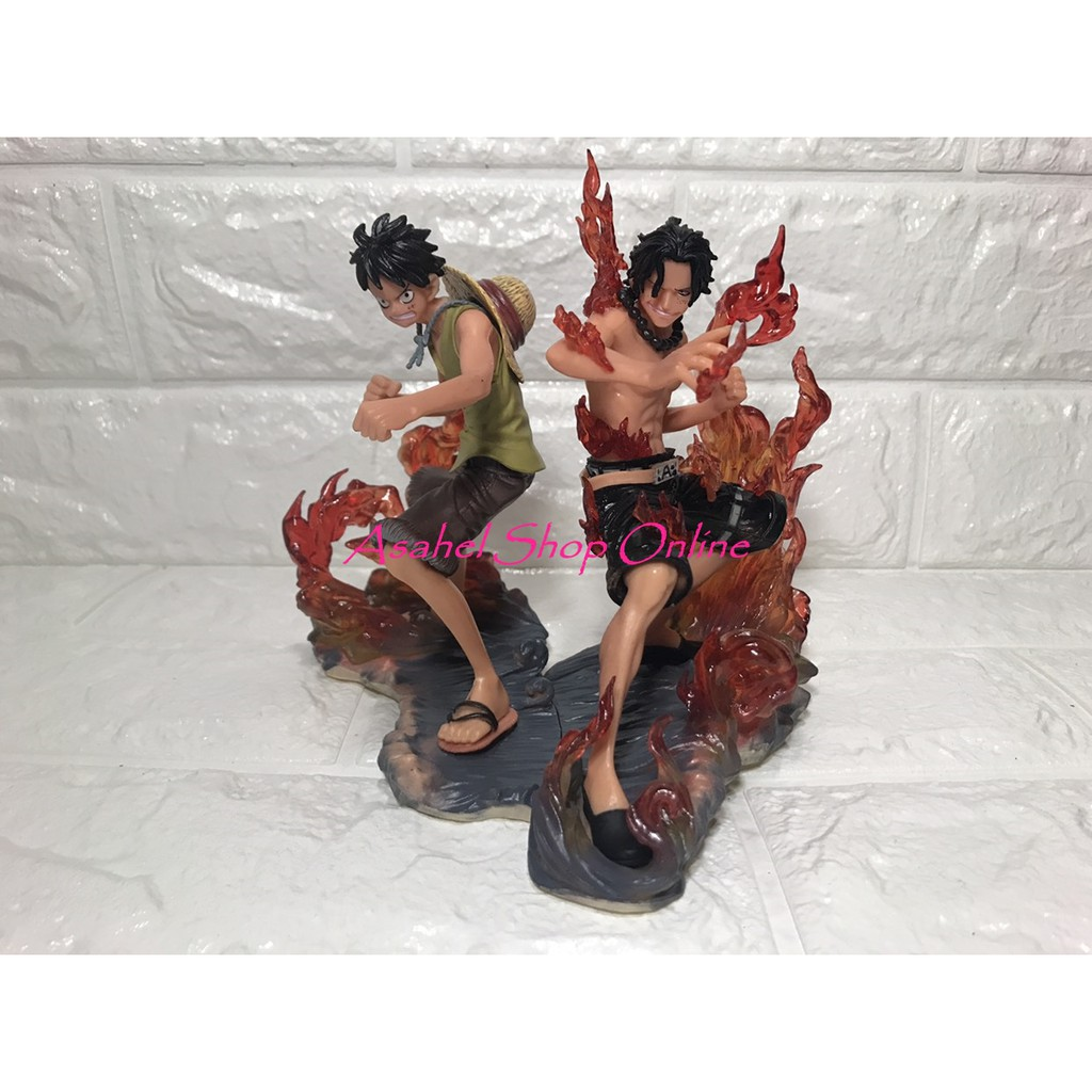 2 In 1 One Piece Luffy And Ace Action Figure Brotherhood