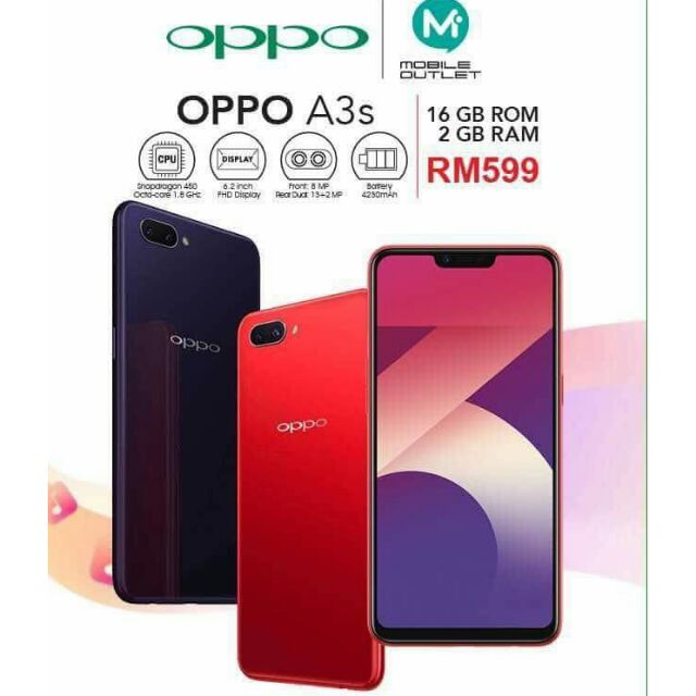 Oppo A3s 2gb+16gb (brand new , original)